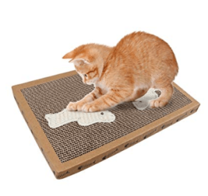 rascador para gatos barato de cartón