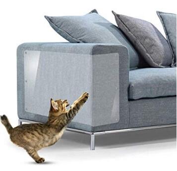 protector de sofá contra arañazos de gato